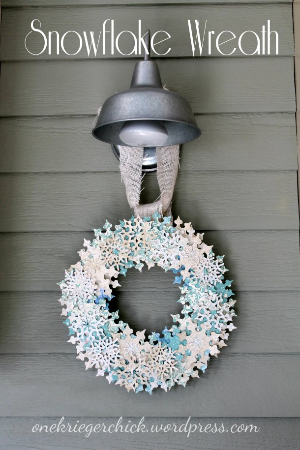 wreath with text