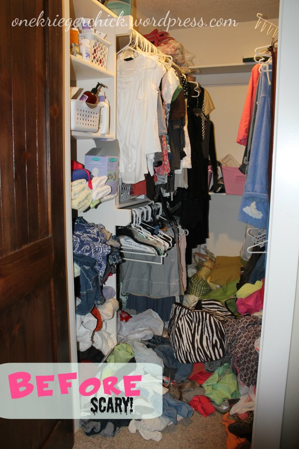 Before Closet Makeover at onekriegerchick.wordpress.com