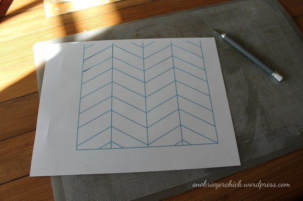 Chevron stencil {onekriegerchick.wordpress.com}