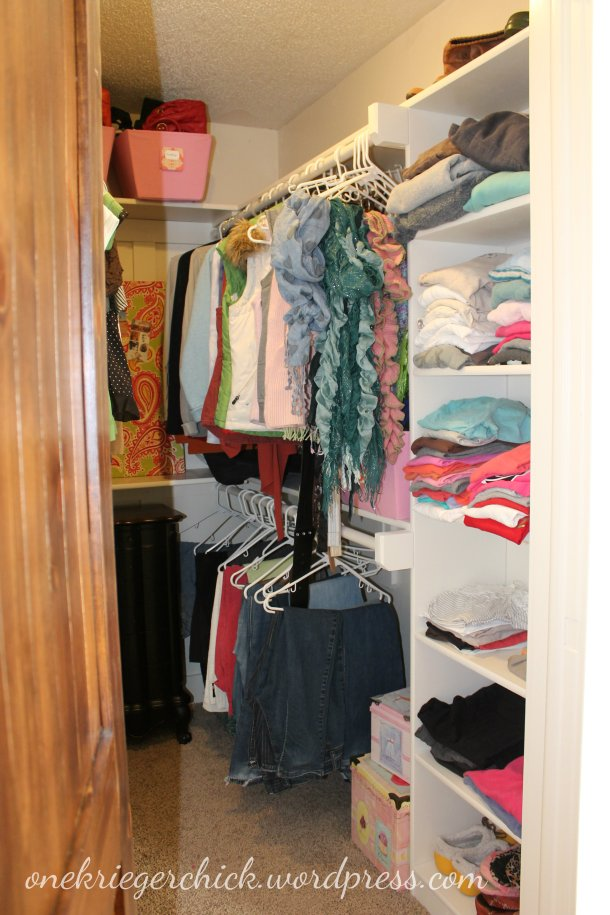 Closet makeover at onekriegerchick.wordpress.com