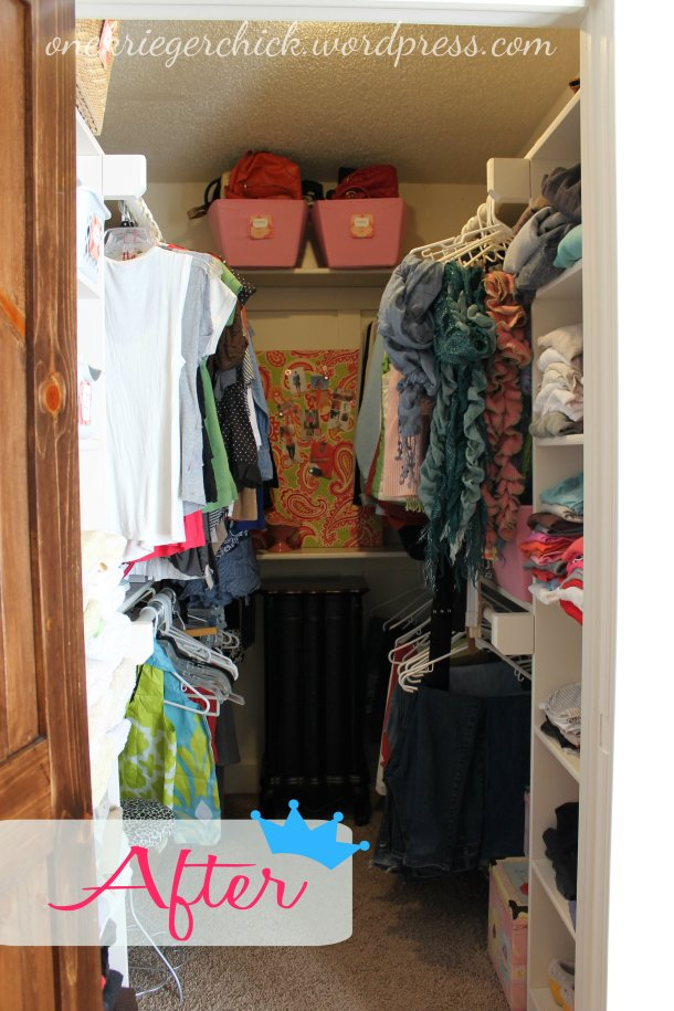 Closet Makeover Reveal at onekriegerchick.wordpress.com