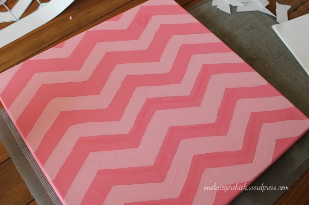 DIY Painted canvas {onekriegerchick.wordpress.com}