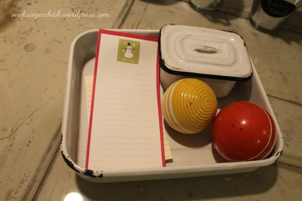 enamelware organizer at onekriegerchick.wordpress.com