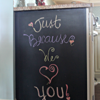 {EASY} Kitchen Chalkboard...and a SuRpRiSe!