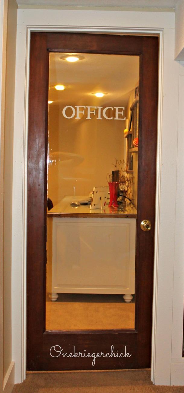 Home office door {onekriegerchick.com}