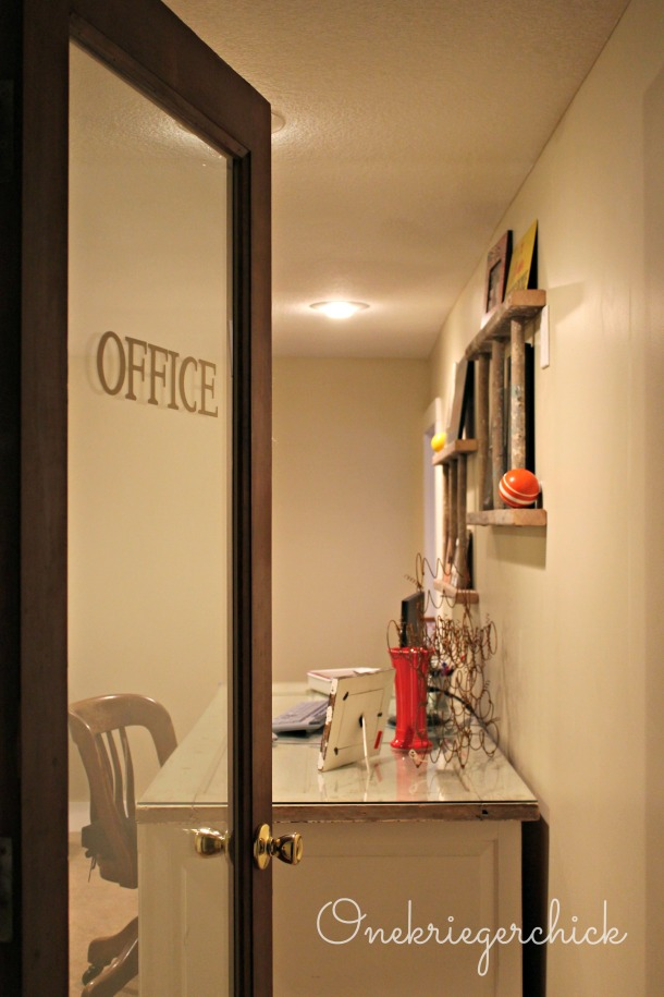 Office door decal {onekriegerchick.com}
