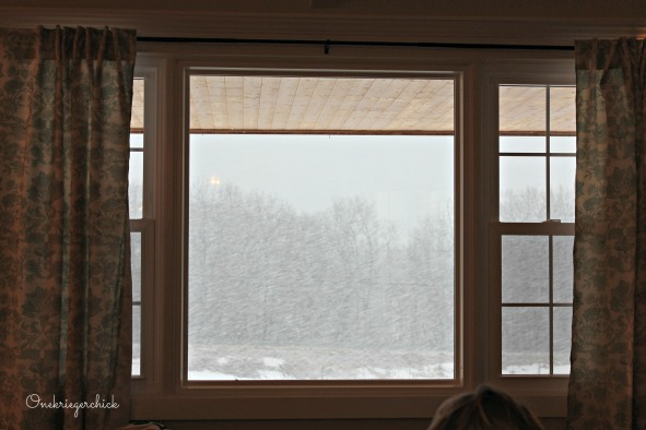 snowy window {Onekriegerchick.com}