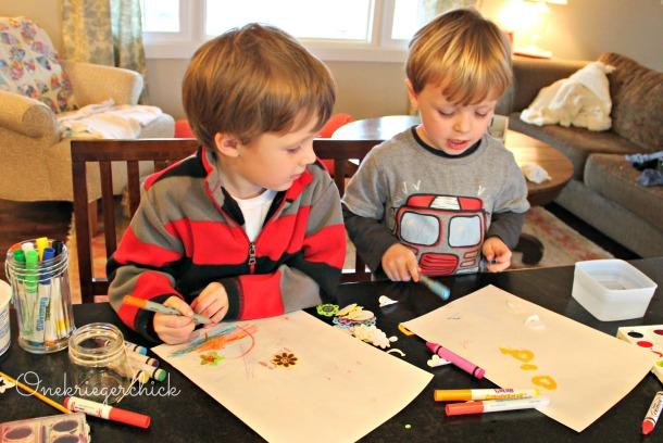 boys love art buffet {Onekriegerchick.com}