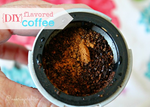 DIY flavored coffee at {onekriegerchick.com}