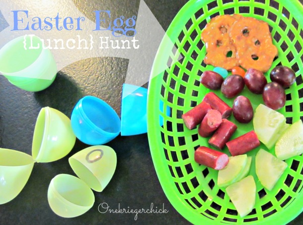 Easter Egg Lunch Hunt {onekriegerchick.com}
