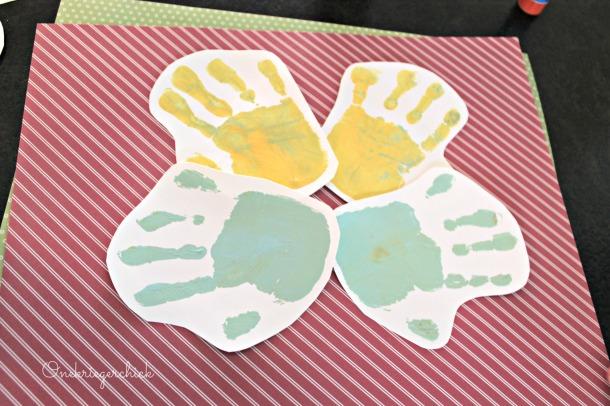 painted handprints at {Onekriegerchick.com}