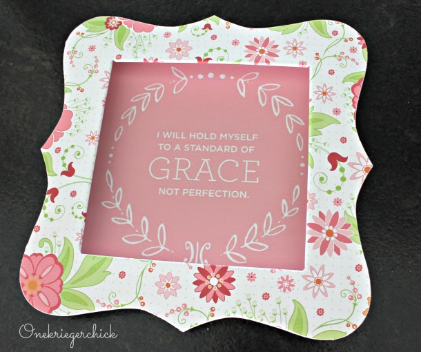 Grace framed art {Onekriegerchick.com}
