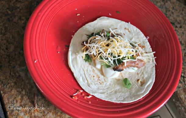 Prepped Cilantro Lime Taco {Onekriegerchick.com}
