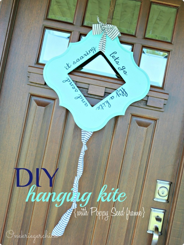 DIY Kite using Poppy Seed Frame {Onekriegerchick.com}