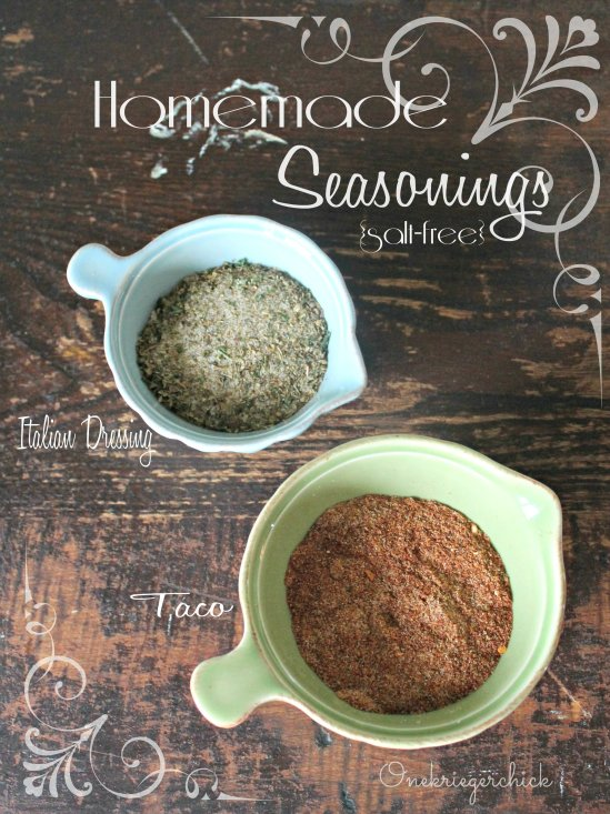 Go-to, Minimal ingredient, salt-free seasonings {Onekriegerchick