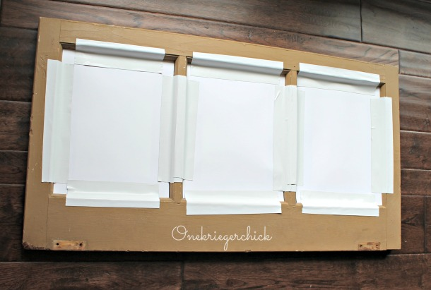 how to frame in an old window {Onekriegerchick.com}