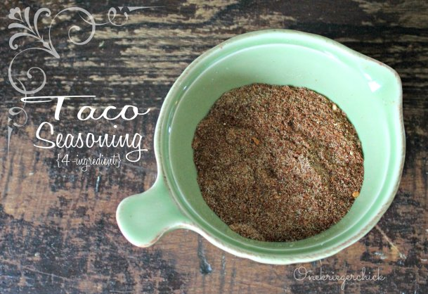 The BEST 4-Ingredient Taco Seasoning {Onekriegerchick